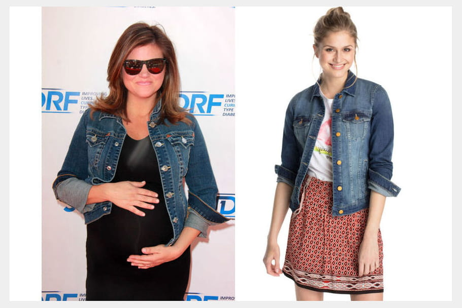 Tiffani Thiessen : une veste en jean