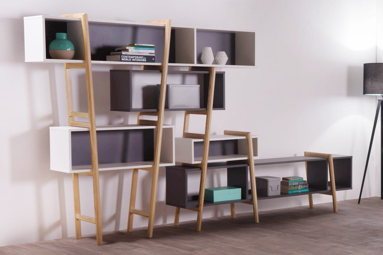 biblioth que design wood tang. Black Bedroom Furniture Sets. Home Design Ideas