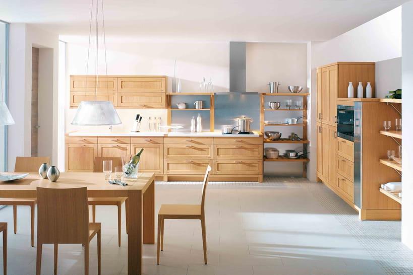 du mobilier en bois pour une cuisine authentique. Black Bedroom Furniture Sets. Home Design Ideas
