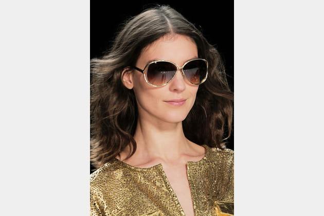 Les lunettes or de Diane Von Furstenberg