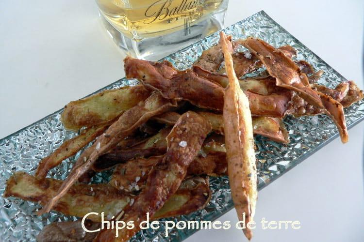 Chips de pelures de pommes de terre
