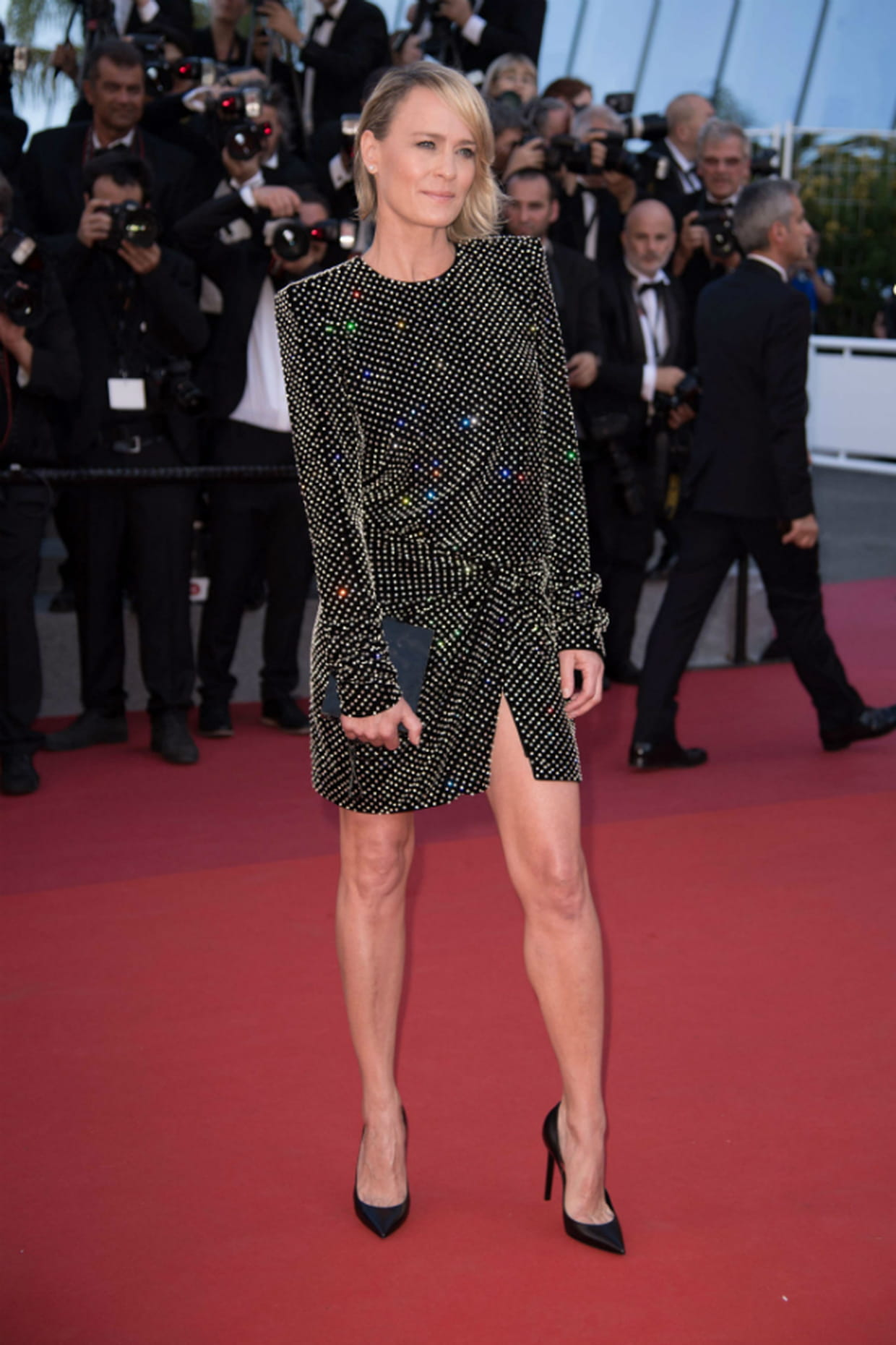 robin wright en saint laurent