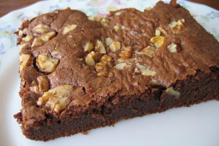 Brownie au chocolat noir et noix