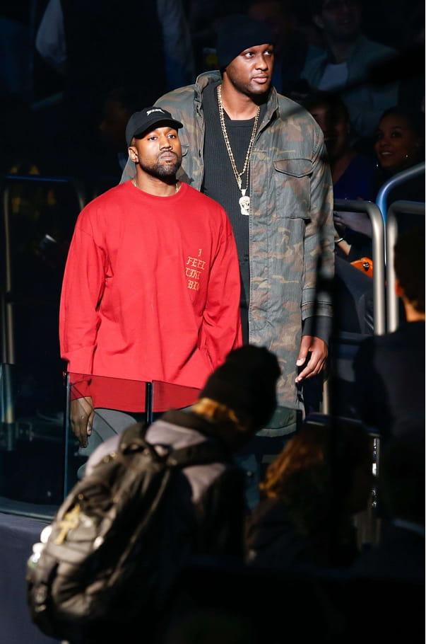 Kanye West et Lamar Odom