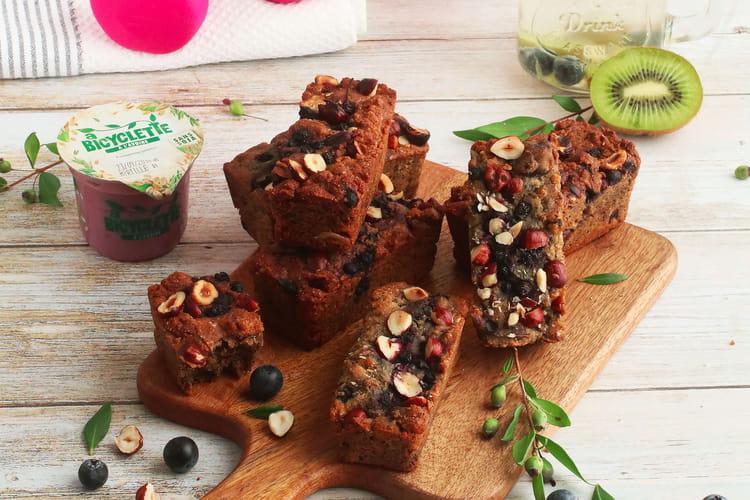Energy cake myrtille vegan et sans gluten
