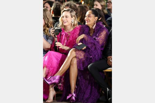 Brie Larson et Tracee Ellis Ross au défilé Rodarte