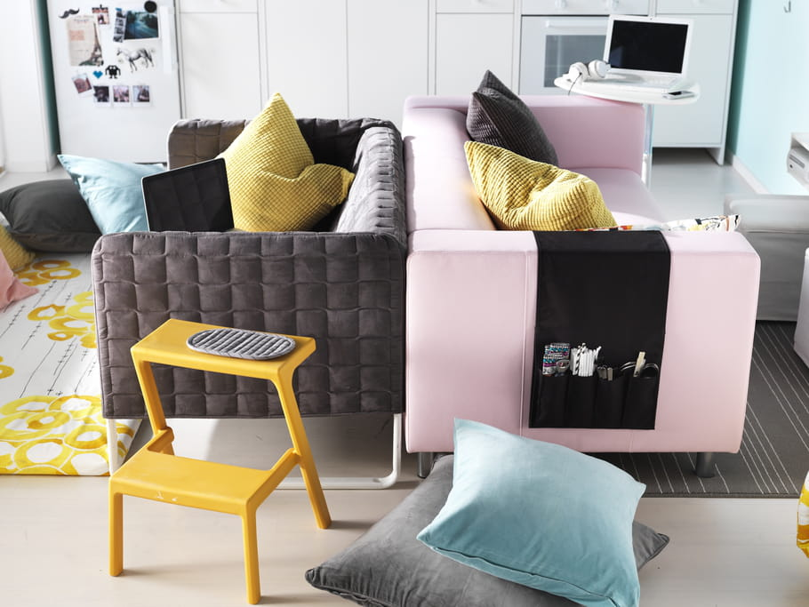 canap s knopparp et klippan d 39 ikea des canap s styl s moins de 400 euros journal des. Black Bedroom Furniture Sets. Home Design Ideas