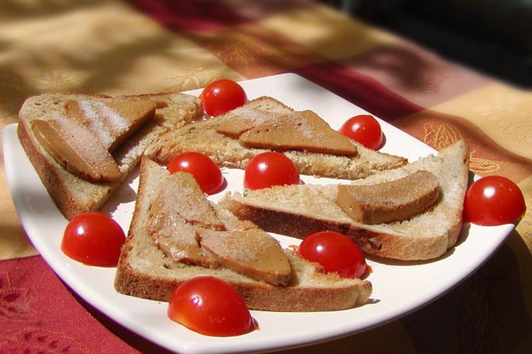 Foie gras sur lit de miel