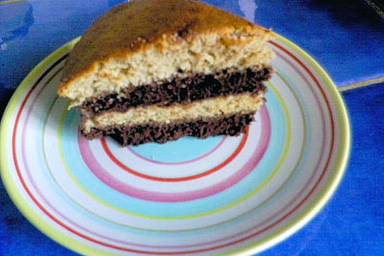 Gâteau du géant Champi aux trois chocolats et aux noisettes