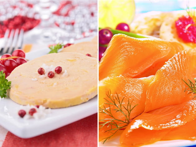 Foie gras ou saumon fumé ?