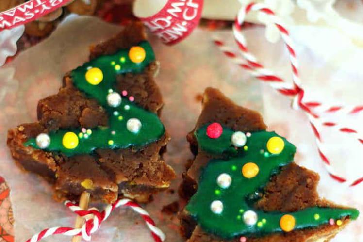 Brownies Sapin de Noël au chocolat