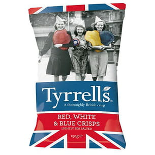 chips red, white & blue crisps de tyrells