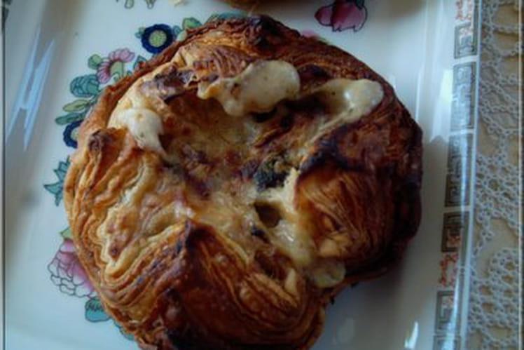 Feuilletés de Saint- Jacques-crème noix de coco