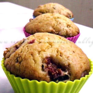 muffins aux figues et aux cranberries