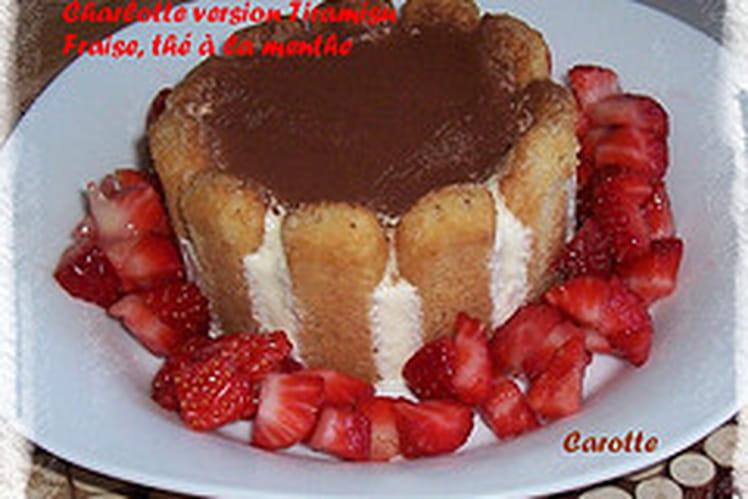 Charlotte aux fraises, version tiramisu
