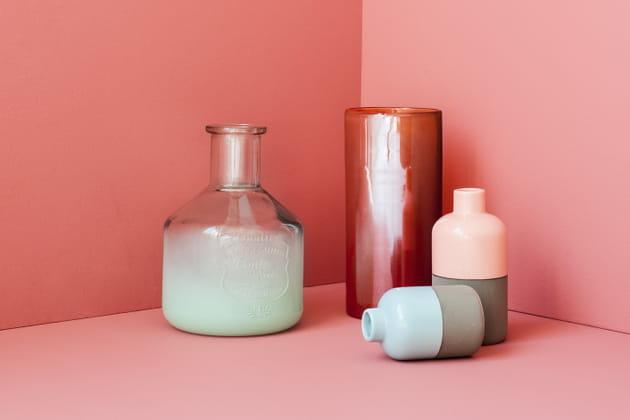 Vases colorés par Fly