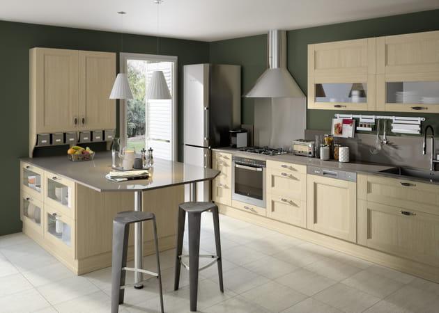 cuisine fjord blanchi de lapeyre. Black Bedroom Furniture Sets. Home Design Ideas