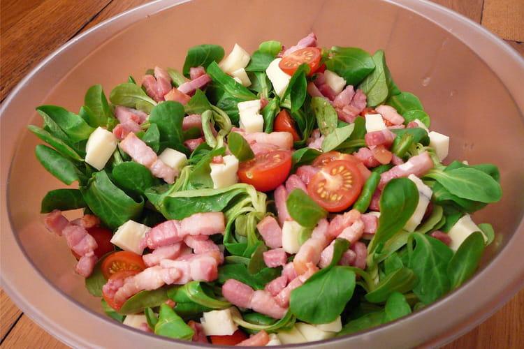Salade de mâche et tomates