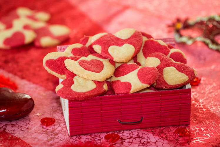 Sablés cœurs bicolores pour la Saint-Valentin