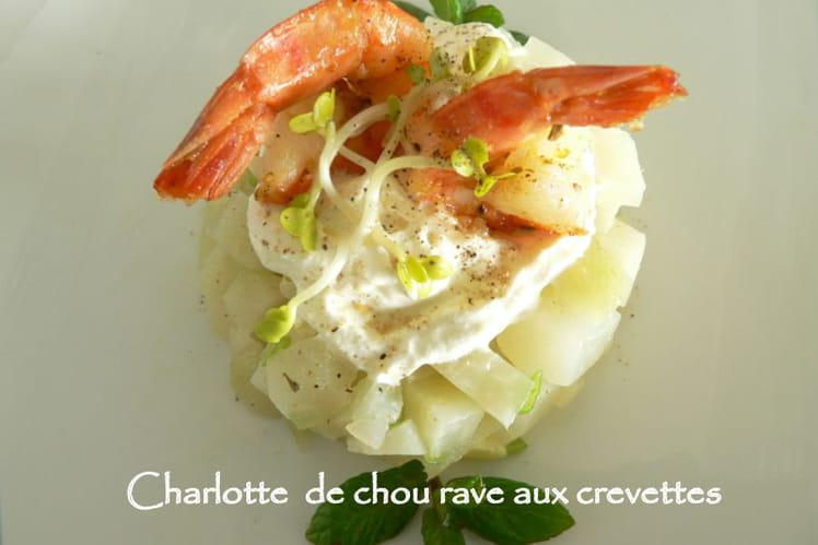 Charlotte de chou-rave aux crevettes