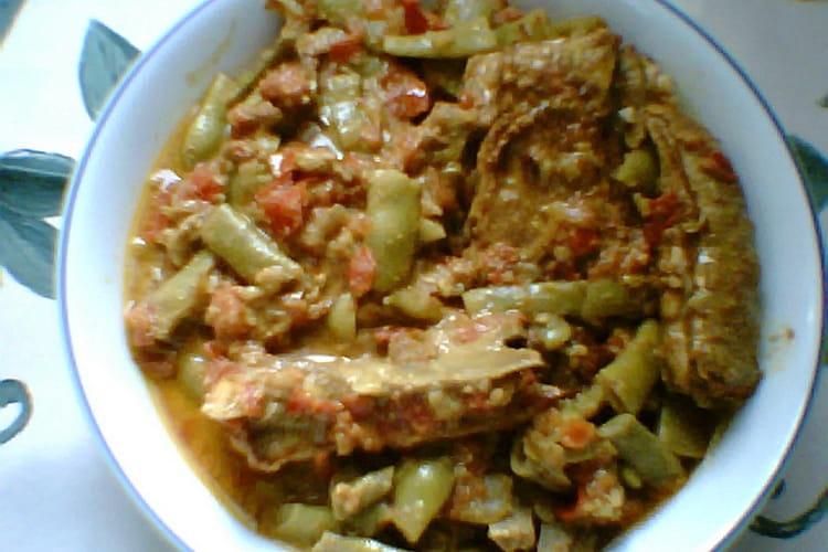 Agneau en curry doux au lait de coco