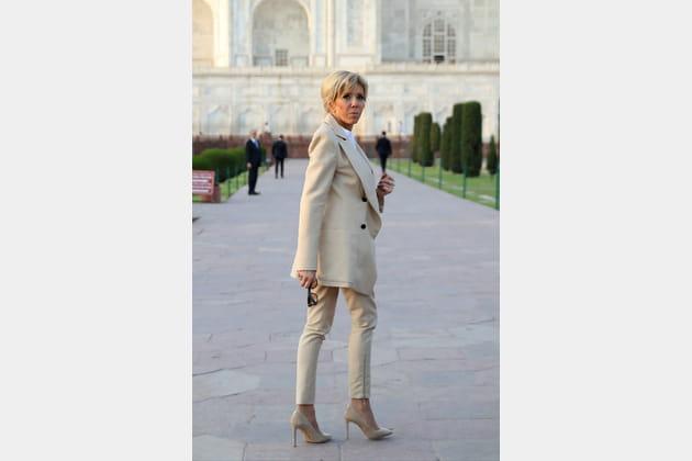 Brigitte Macron en visite en Inde