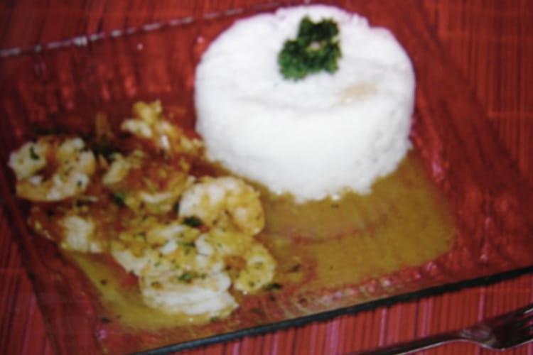 Crevettes sautées au cumin