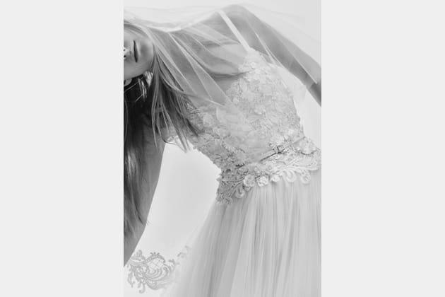 Une robe de mariée romantique