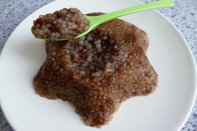 Gâteau de riz de konjac au chocolat et au psyllium