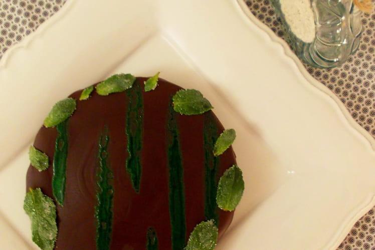 Opéra menthe chocolat