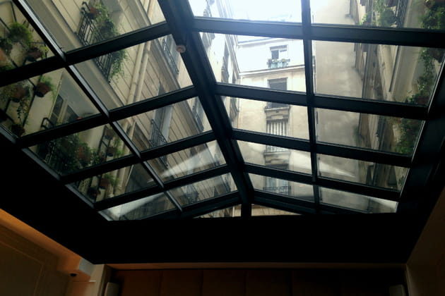 La verrière, point névralgique de l'hôtel