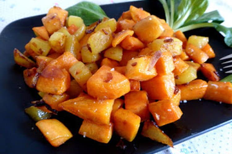 Patates douces rissolées