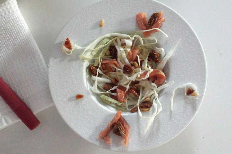 Salade de chou au saumon fumé