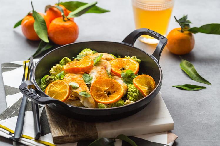 Flexi'lunch au poulet, choux Romanesco et Clémentines de Corse IGP