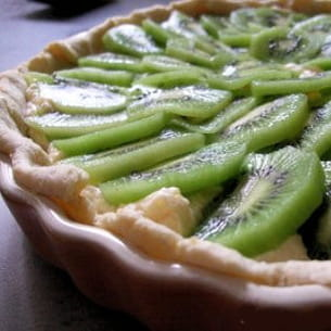 tarte à la frangipane de citron et aux kiwis