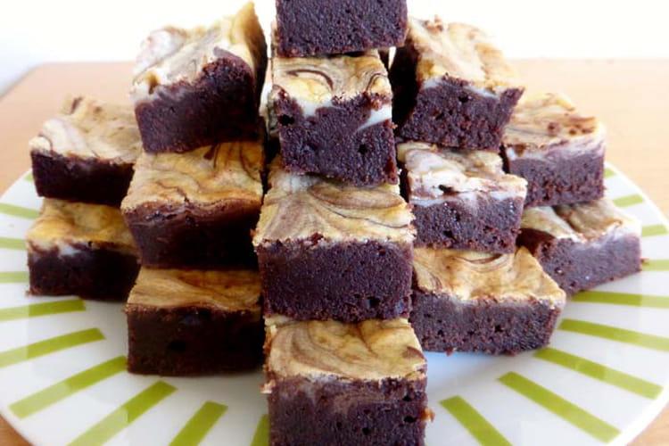 Brownie marbré