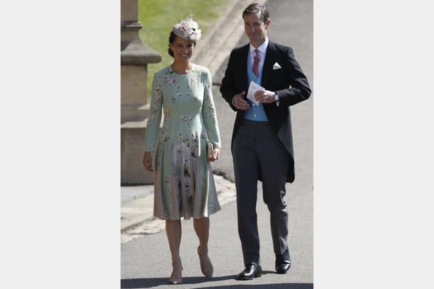Pippa Middleton, enceinte, et son époux James Matthews
