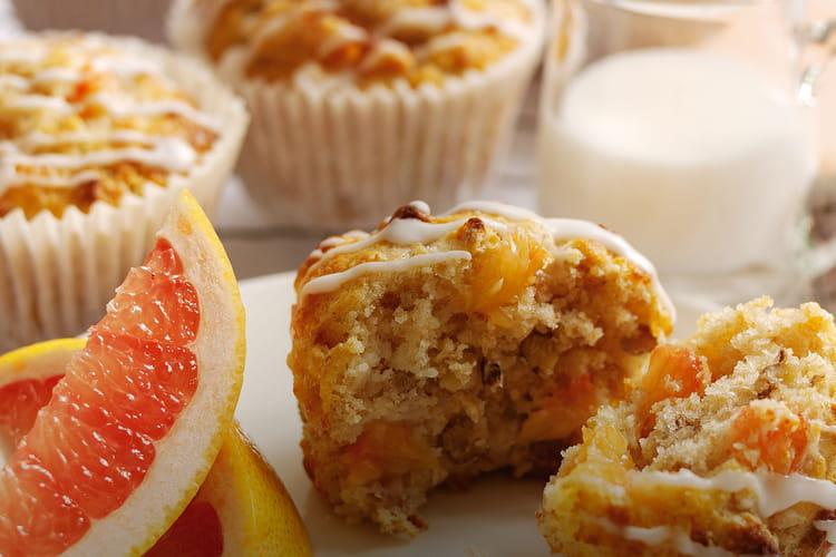 Muffins au pamplemousse de Floride et aux noix