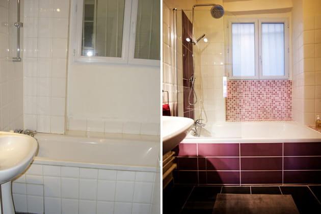 Salle de bains : avant/après