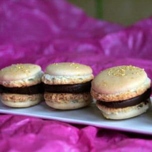 macarons chocolat praliné