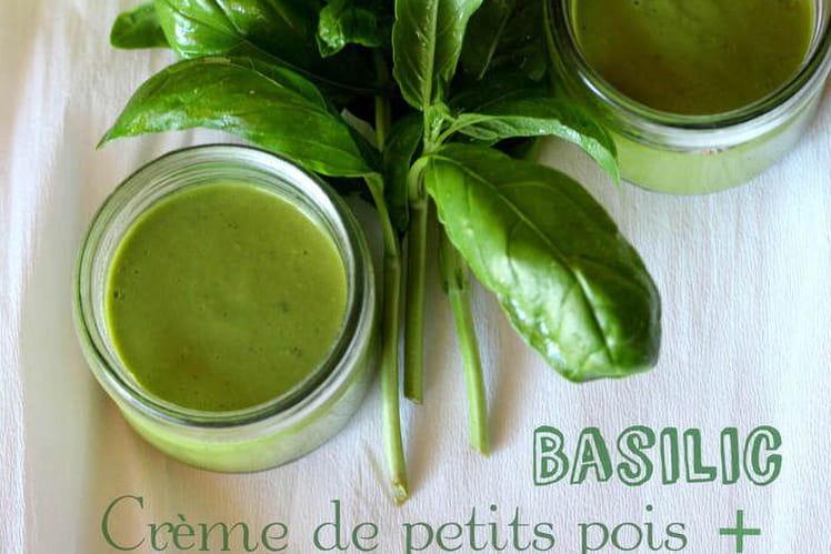 Crème de petits pois et basilic