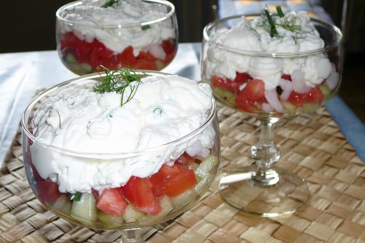 Verrines tomates-crevettes