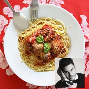 baptiste giabiconi : spaghetti aux boulettes de viande
