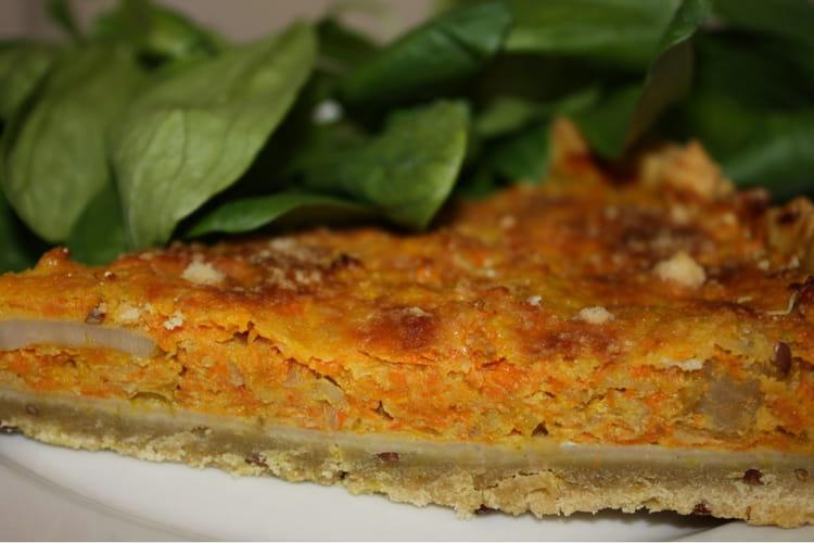 Tarte bio topinambours, carotte et courge