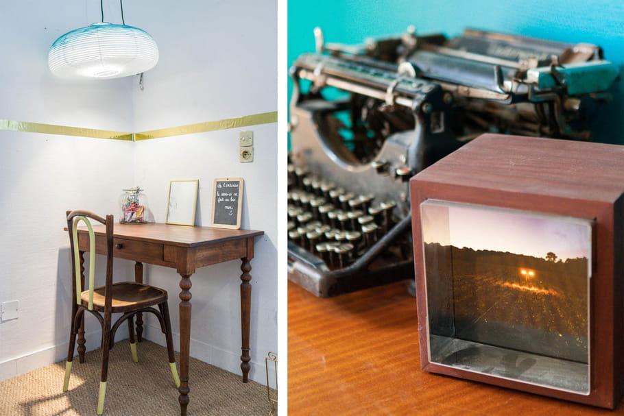 un petit coin bureau le pavillon des canaux un bar restaurant comme la maison journal des. Black Bedroom Furniture Sets. Home Design Ideas