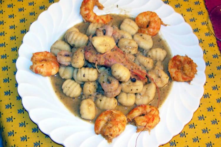 Crevettes et gnocchis au pistou