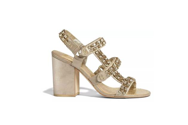 Sandales irisées de Chanel