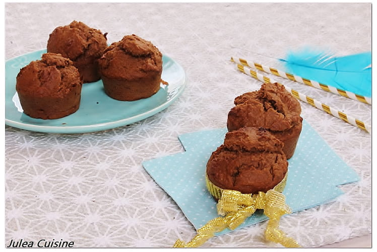 Muffins Chocolat Banane et Noix de coco Vegan