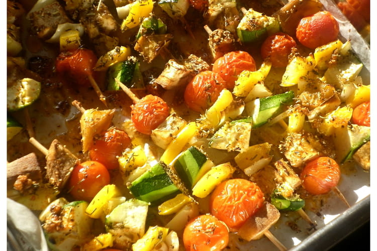 Brochettes de légumes du soleil