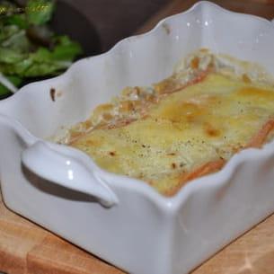 gratin de crozets au fromage à raclette